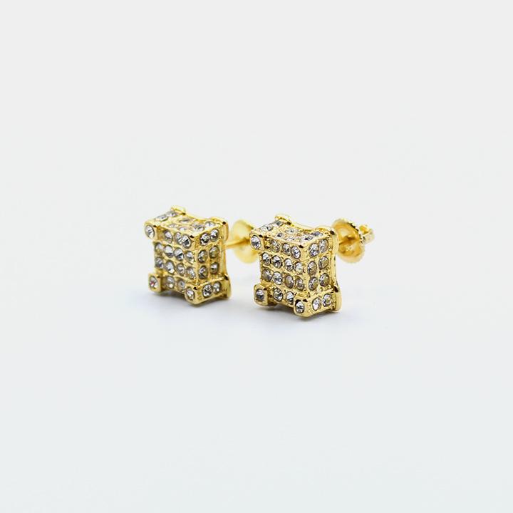 Boucles d'oreilles - Carré